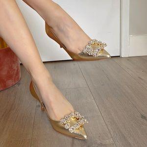 ✈️sold✈️Roger Vivier crystal high heels